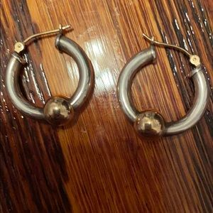 Cape cod hoop earrings